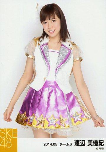 【中古】生写真(AKB48・SKE48)/アイドル/SKE48 渡辺美優紀/膝上・両手下/「NHK紅白ステージ衣装」「2014.05」個別生写真