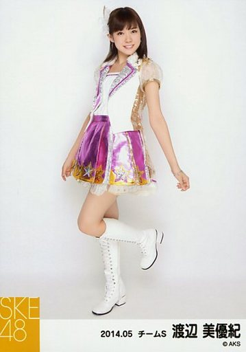 【中古】生写真(AKB48・SKE48)/アイドル/SKE48 渡辺美優紀/全身・体左向き・左足上げ/「NHK紅白ステージ衣装」「2014.05」個別生写真