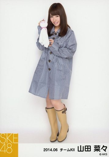 【中古】生写真(AKB48・SKE48)/アイドル/SKE48 山田菜々/全身・右側にてるてる坊主/「レインコート」「2014.06」個別生写真