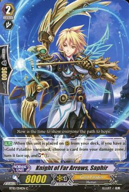【中古】ヴァンガード/英語版/C/ゴールドパラディン/BT第10弾 Triumphant Return of the King of K BT10/054EN [C] : Knight of Far Arrows, Saphir/遠矢の騎士 サフィール
