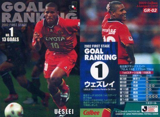 【中古】スポーツ/Jリーグゴールランキングカード/カルビー Jリーグチップス2002 第2弾/名古屋グランパスエイト GR-02 : ウェズレイ