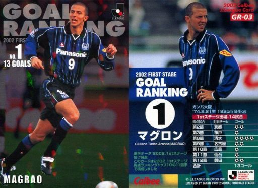 【中古】スポーツ/Jリーグゴールランキングカード/カルビー Jリーグチップス2002 第2弾/ガンバ大阪 GR-03 : マグロン