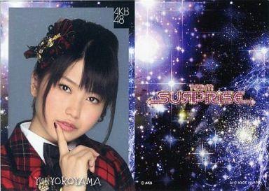 【中古】アイドル(AKB48・SKE48)/チームサプライズ トレーディングカード 横山由依/レアカード(ホイル仕様)/チームサプライズ トレーディングカード