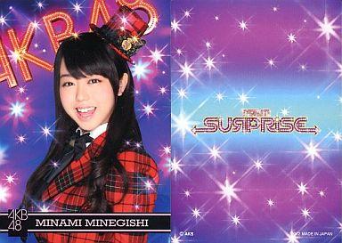 【中古】アイドル(AKB48・SKE48)/チームサプライズ トレーディングカード 峯岸みなみ/ノーマルカード/裏面紫/チームサプライズ トレーディングカード