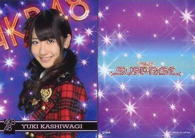 【中古】アイドル(AKB48・SKE48)/チームサプライズ トレーディングカード 柏木由紀/ノーマルカード/裏面紫/チームサプライズ トレーディングカード