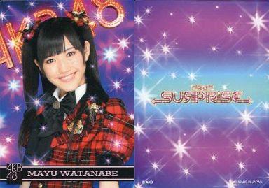 【中古】アイドル(AKB48・SKE48)/チームサプライズ トレーディングカード 渡辺麻友/ノーマルカード/裏面紫/チームサプライズ トレーディングカード
