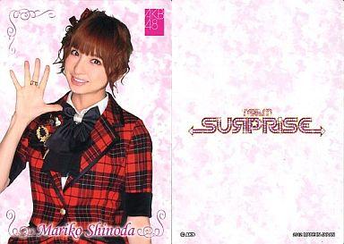 【中古】アイドル(AKB48・SKE48)/チームサプライズ トレーディングカード 篠田麻里子/ノーマルカード/裏面白/チームサプライズ トレーディングカード