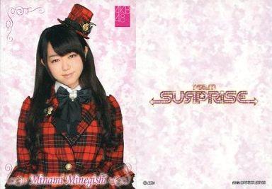 【中古】アイドル(AKB48・SKE48)/チームサプライズ トレーディングカード 峯岸みなみ/ノーマルカード/裏面白/チームサプライズ トレーディングカード