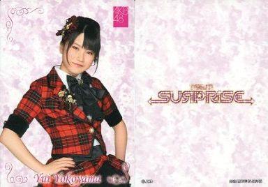 【中古】アイドル(AKB48・SKE48)/チームサプライズ トレーディングカード 横山由依/ノーマルカード/裏面白/チームサプライズ トレーディングカード