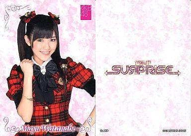 【中古】アイドル(AKB48・SKE48)/チームサプライズ トレーディングカード 渡辺麻友/ノーマルカード/裏面白/チームサプライズ トレーディングカード