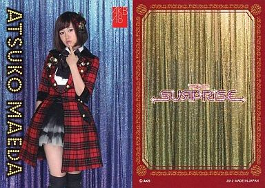 【中古】アイドル(AKB48・SKE48)/チームサプライズ トレーディングカード 前田敦子/ノーマルカード/裏面赤枠/チームサプライズ トレーディングカード