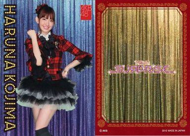 【中古】アイドル(AKB48・SKE48)/チームサプライズ トレーディングカード 小嶋陽菜/ノーマルカード/裏面赤枠/チームサプライズ トレーディングカード