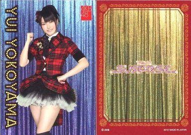 【中古】アイドル(AKB48・SKE48)/チームサプライズ トレーディングカード 横山由依/ノーマルカード/裏面赤枠/チームサプライズ トレーディングカード