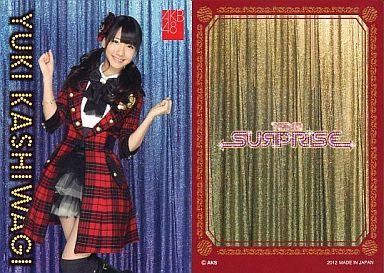 【中古】アイドル(AKB48・SKE48)/チームサプライズ トレーディングカード 柏木由紀/ノーマルカード/裏面赤枠/チームサプライズ トレーディングカード