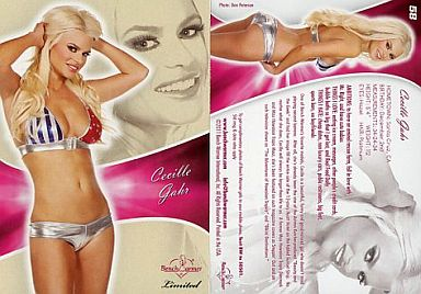 【中古】コレクションカード(女性)/2011 BENCH WARMER LIMITED 58 : Cecille Gahr(セシールガー)