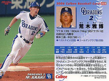 【中古】スポーツ/2006プロ野球チップス第1弾/中日/レギュラーカード 58 : 荒木 雅博