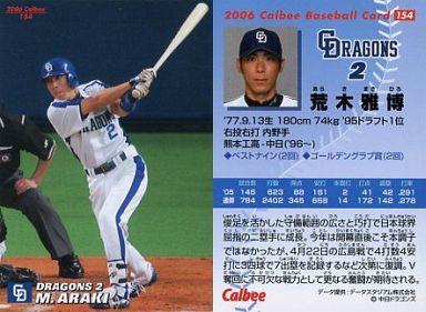 【中古】スポーツ/2006プロ野球チップス第2弾/中日/レギュラーカード 154 : 荒木 雅博