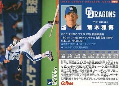 【中古】スポーツ/2010プロ野球チップス第1弾/中日/レギュラーカード 009 : 荒木 雅博