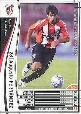 【中古】WCCF/2007-2008 27 : MF アウグスト・フェルナンデス