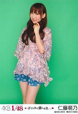 【中古】生写真(AKB48・SKE48)/アイドル/PSP「AKB1/48 アイドルと恋したら…」付録 仁藤萌乃(C)ホットパンツ/PSP「AKB1/48アイドルと恋したら…」付録