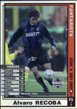 【中古】WCCF/FANTASISTA/FW/2001-2002 F5 [FANTASISTA] : アルヴァロ・レコバ