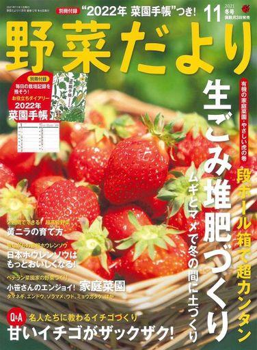 ブティック社 新品 カルチャー雑誌 付録付)野菜だより 2021年11月号