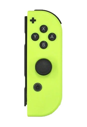 Nintendo Switchコントローラー Joy-Con(R) ネオンイエロー(状態:ストラップ欠品)