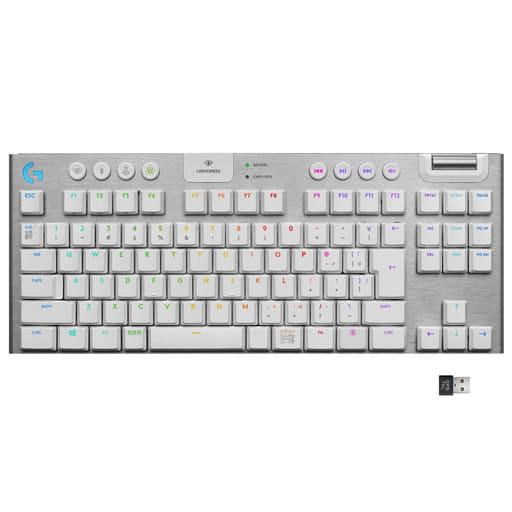 LIGHTSPEEDワイヤレス RGBメカニカル ゲーミングキーボード G913 (ホワイト) [G913-TKL-TCWH]