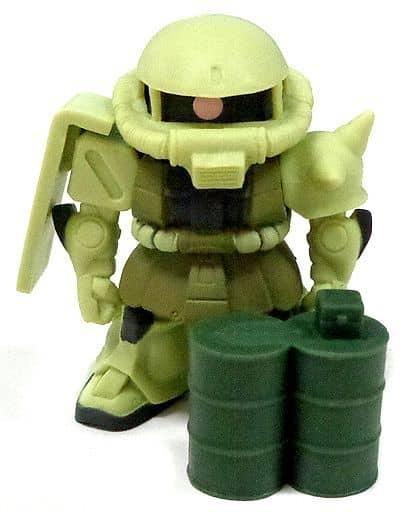 H-3 ザク(緑)&ドラム缶 卓上ザク小隊フィギュアコレクション 「一番くじ 機動戦士ガンダム~MS-06 ザクII~」H賞