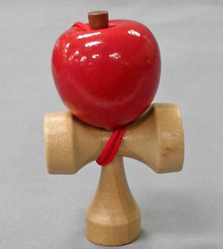 【シークレット】りんご 「木製 ポケットけん玉マスコット」