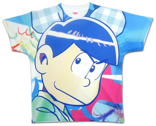 カラ松(サイケ松) Tシャツ ブルー Sサイズ 「おそ松さん×PARCO おそ松さんの庭。」