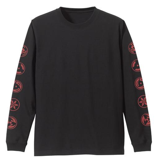写輪眼 袖リブロングスリーブTシャツ ブラック Lサイズ 「NARUTO-ナルト- 疾風伝」