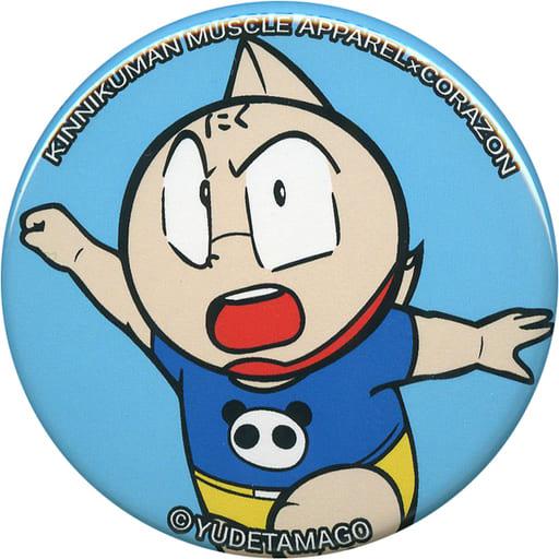 ミートくん(パンダスーツ/右手上げ/背景水色) キン肉マン缶バッジ 「キン肉マン×CORAZON」
