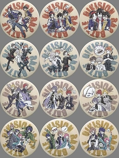 全12種セット 「ヒプノシスマイク -Division Rap Battle- グラフアートデザイン 缶バッジ 02」