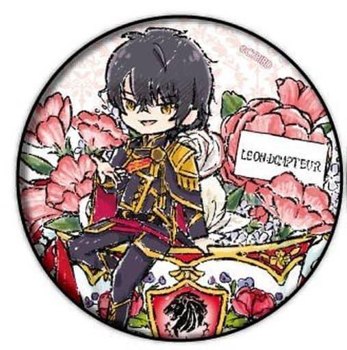 レオン=ドントゥール 「イケメン王子 美女と野獣の最後の恋 缶バッジ 01.花ver. グラフアートデザイン」