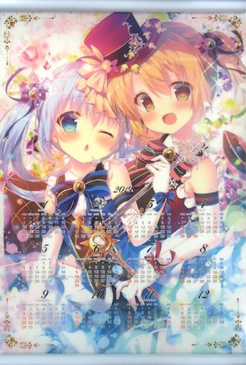 【ご注文はうさぎですか?】A3クリアタペストリーカレンダー チノ&ココア(蜜桃まむ) C95/蜂蜜少女