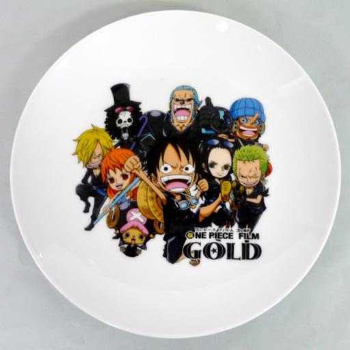 麦わらの一味 オリジナルプレート 「ワンピース FILM GOLD」 イオン限定 ゴールドアドベンチャーキャンペーン品