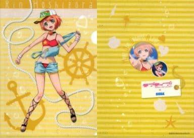 B3.星空凛(イエロー) A4クリアファイル 「ラブライブ!」 2014年 セガ&AGスクエア 遊んで+もらえるラブライブ!キャンペーン品