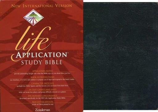 <<洋書>> ケース付)Life Application Study Bible: New International Version Black