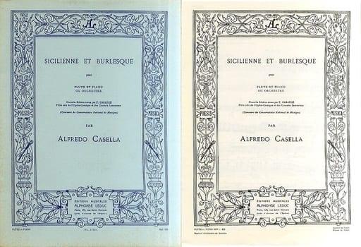<<その他>> 付録付)Sicilienne et Burlesque: Flute et Piano ou Orchestre