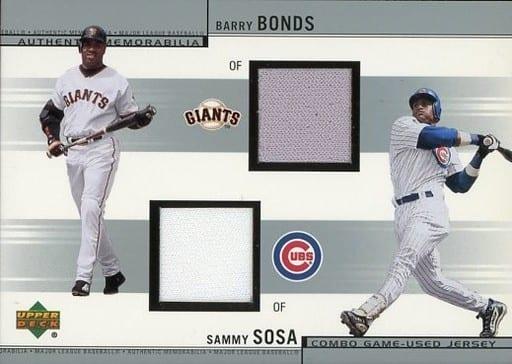 CJ-BS [ジャージカード] : BARRY BONDS & SAMMY SOSA(ジャージー)