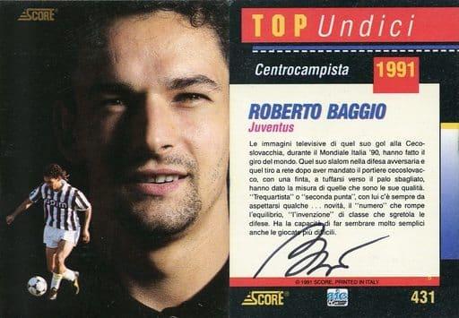 431 [直筆サインカード] : ROBERTO BAGGIO(直筆サイン入り)(保証書付き)