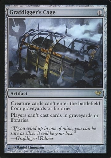 [R] : 【FOIL】Grafdiggers Cage/墓掘りの檻