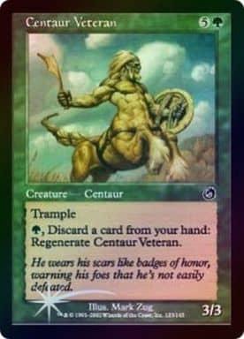 [C] : 【FOIL】Centaur Veteran/ケンタウルスの古参兵
