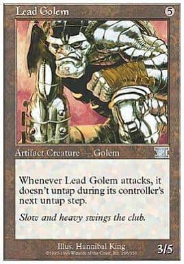 [UC] : 【6ED】Lead Golem/鉛のゴーレム「UC」