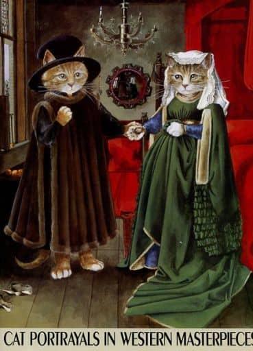 <<パンフレット(図録)>> パンフ)猫のヨーロッパ名画展 (1995年版) CAT PORTRAYALS IN WESTERN MASTERPIECES