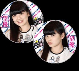 α-X's 缶バッチ 望優(Miyu)