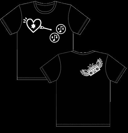 α-Xs Tシャツブラック