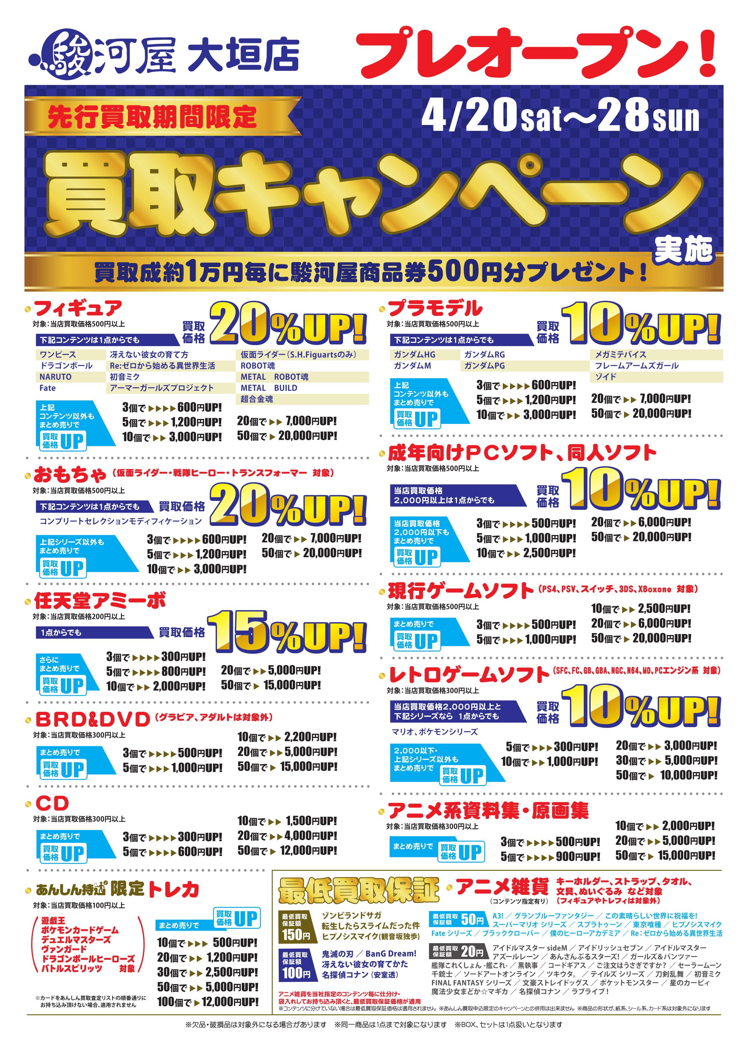 駿河屋池袋ゲーム館リニューアルオープンキャンペーン