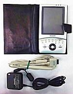 ZAURUS本体(MI-E1)+レザーケース+PC接続ケーブル